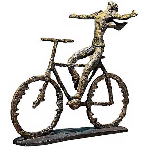 """Uttermost Freedom Rider 15"""" Wide Statue"""