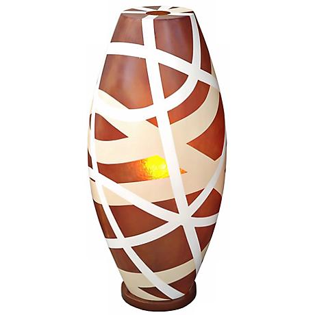 Cape Town Light Brown Fiberglass 26 High Table Lamp
