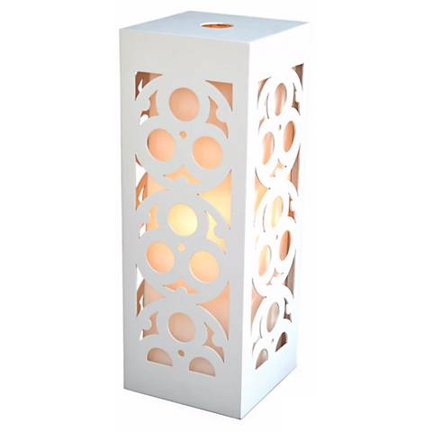 "Candea White Wooden Frame 24"" High Table Lamp"