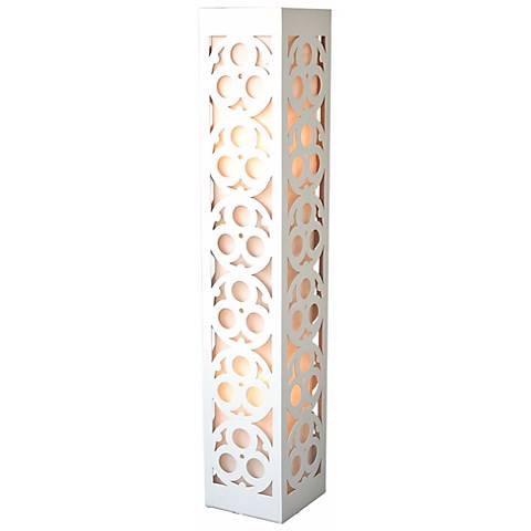 "Candea White Wooden Frame 47 1/2"" High Lamp"