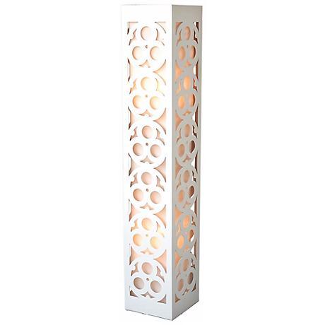 """Candea White Wooden Frame 47 1/2"""" High Lamp"""