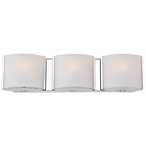 "Possini Euro 19 3/4"" Wide Frosted Glass Band Bathroom Light"