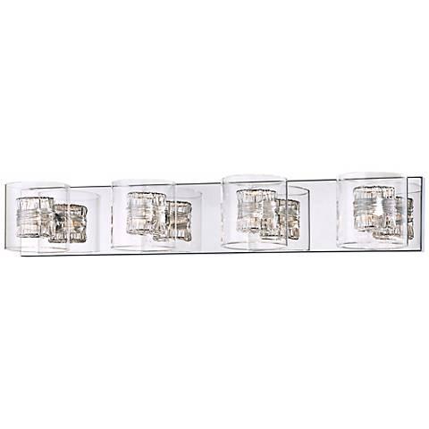 """Possini Euro Design Wrapped Wire 30 3/4"""" Wide Bathroom Light"""