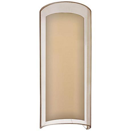 "Sonneman Puri 16""H Black Brass Fluorescent Wall Sconce"