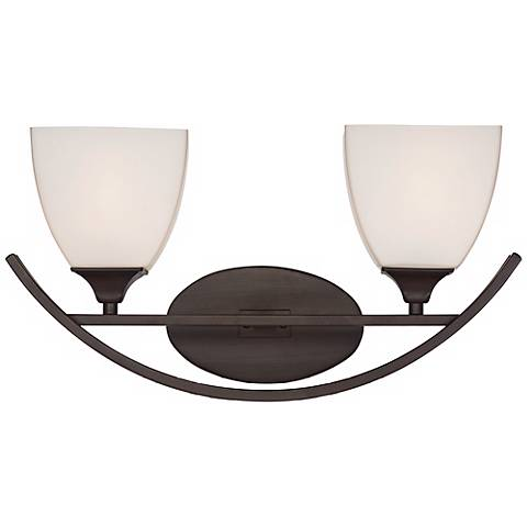 "Jenisen Arch 18"" Wide Bronze Bathroom Light"