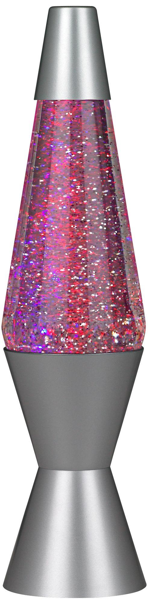 Color Phasing Vortex Motorized Glitter Lava® Accent Lamp