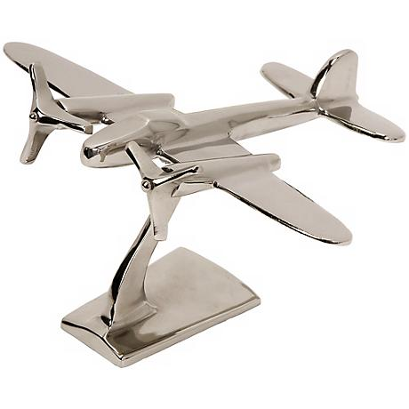 """Up In The Air Aluminum 9"""" High Plane Statuary"""
