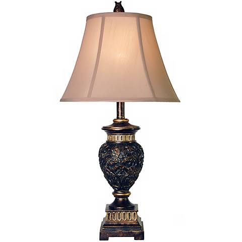 Passo Ambrose Carved Leaf Table Lamp