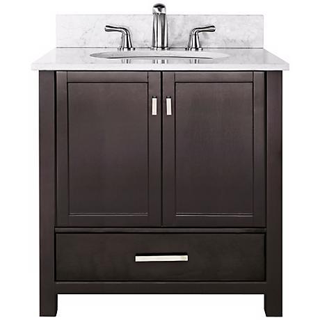 "Modero White Marble Top 37"" Wide Sink Bath Vanity"