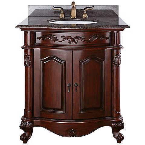 """Provence Imperial Granite Top 31"""" Wide Sink Bath Van"""