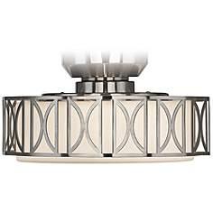 Ceiling Fan Light Kits   Lamps Plus:Deco Brushed Nickel Finish Pull Chain Ceiling Fan Light Kit,Lighting