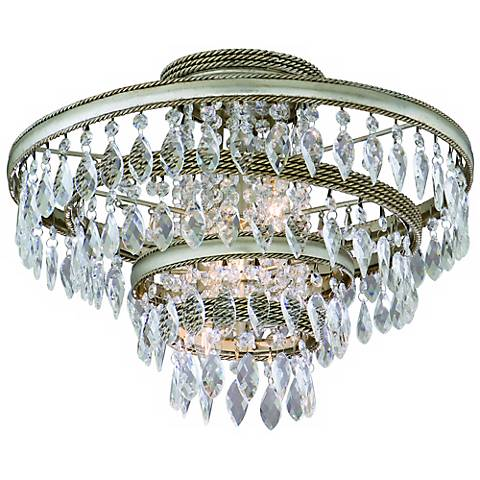Corbett Diva Collection Crystal Semi Flush Ceiling Light