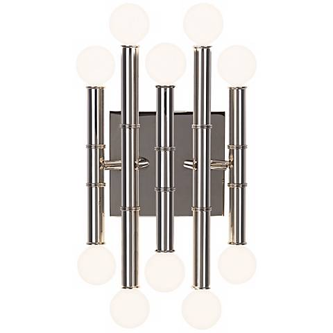 "Jonathan Adler Meurice 12"" High Polished Nickel Wall Sconce"