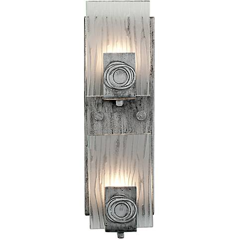 """Varaluz Polar 15""""H 2-Light Blackened Silver Bath Light"""
