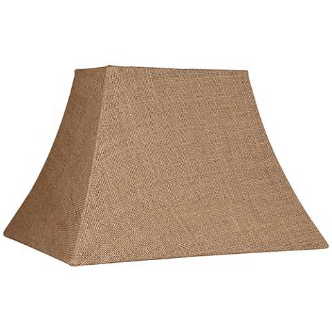 Go Bath Fitter >> Natural Burlap Rectangle Lamp Shade 5/8x11/14x10 (Spider ...