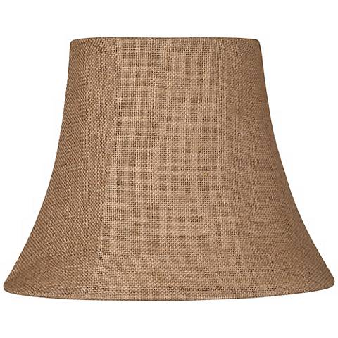 Natural Burlap Small Oval Lamp Shade 6/8x11/14x11 (Spider)
