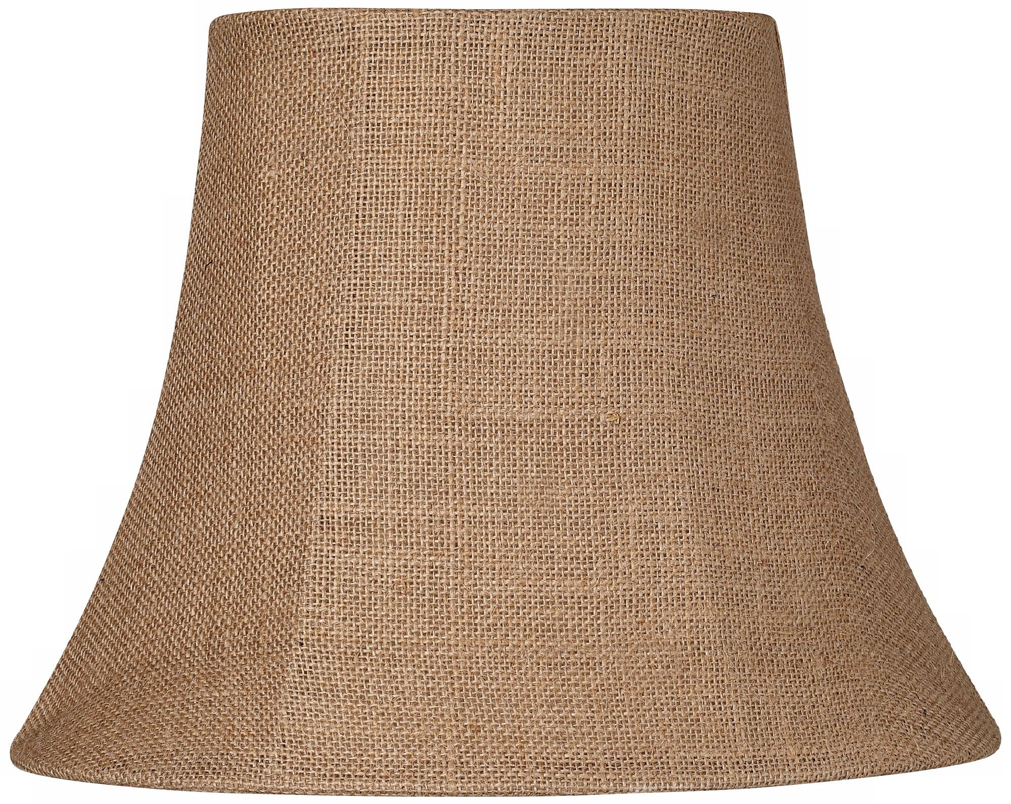 natural burlap small oval lamp shade 68x1114x11 spider