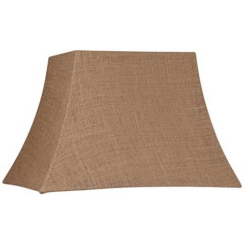 Natural Burlap Rectangle Lamp Shade 7/10x12/16x11 (Spider)