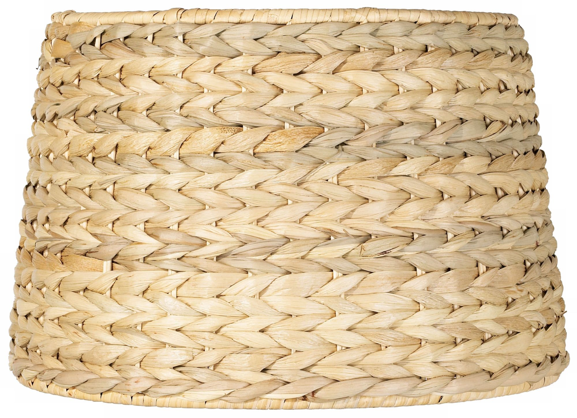 woven seagrass drum shade 10x12x825 spider - Drum Shade