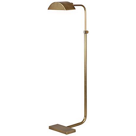 Robert Abbey Koleman Aged Natural Brass Floor Lamp