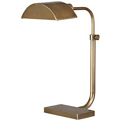 Robert Abbey Koleman Aged Natural Brass Desk Lamp