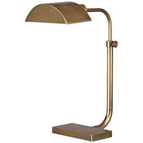 Robert Abbey Koleman Aged Natural Brass Desk Lamp
