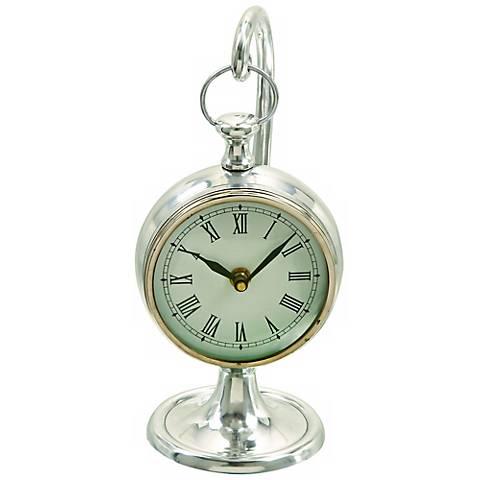 Polished Aluminum Hanging Table Clock