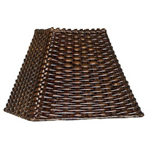 Wicker Square Lamp Shade 4.75x11x8 (Spider)