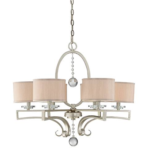 "Savoy House Rosendal 30"" Wide Linear Silver Chandelier"