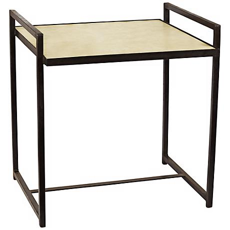Jamie Young Steel Vellum Large Side Table