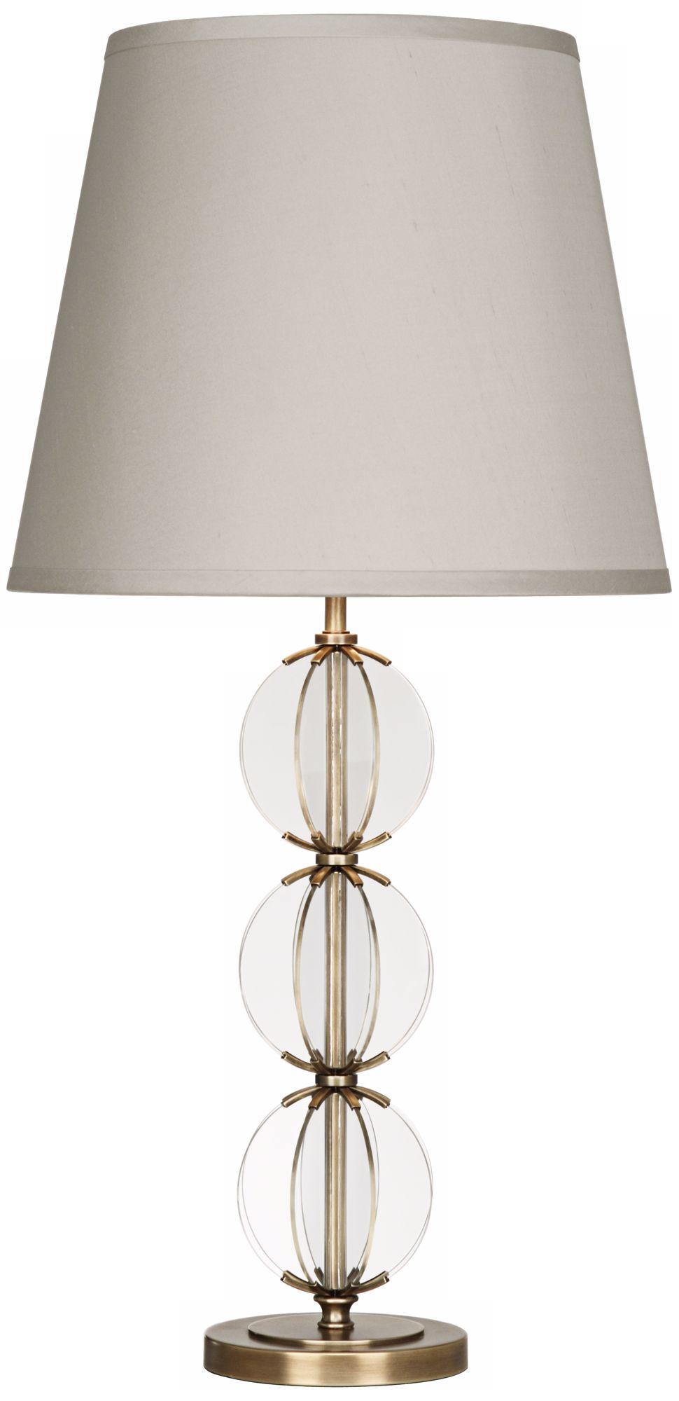 robert abbey latitude clear glass antique brass table lamp - Robert Abbey