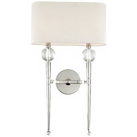 """Hudson Valley Rockland Polished Nickel 22 1/4""""H Wall Sconce"""