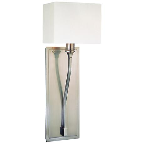 "Hudson Valley Selkirk Satin Nickel 7"" Wide Wall Sconce"