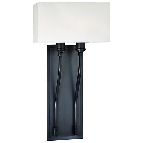 """Hudson Valley Selkirk Old Bronze 10"""" Wide Wall Sconce"""