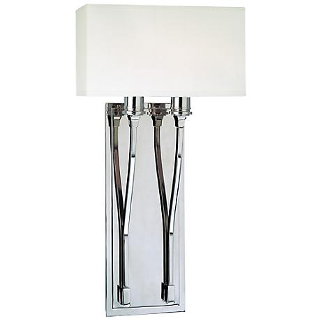 """Hudson Valley Selkirk Polished Nickel 10"""" Wide Wall Sconce"""