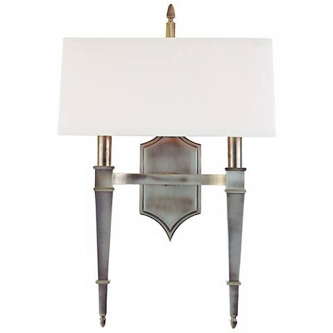 "Hudson Valley Norwich Nickel 14 1/2"" Wide Wall Sconce"