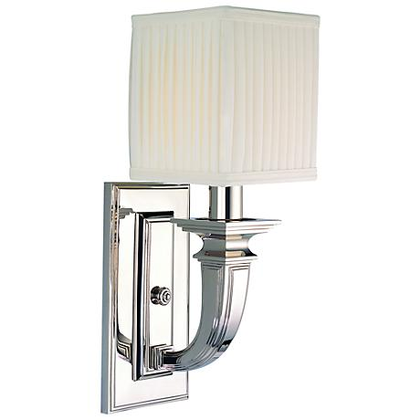 """Hudson Valley Phoenicia Polished Nickel 15"""" High Wall Sconce"""