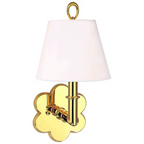 "Hudson Valley Pomona Polished Brass 6 1/2"" Wide Wall Sconce"