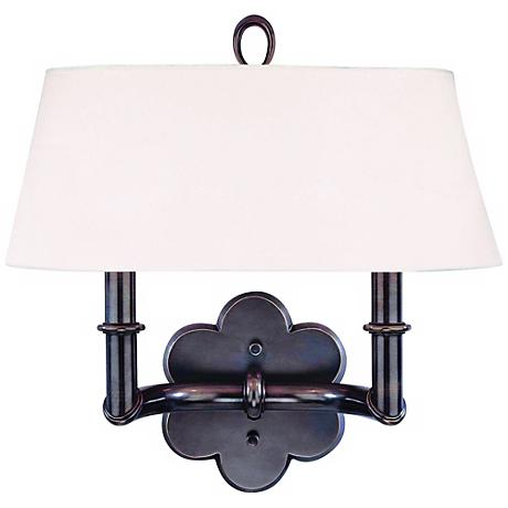 valley pomona old bronze 2 light wall sconce u3073 lamps plus. Black Bedroom Furniture Sets. Home Design Ideas