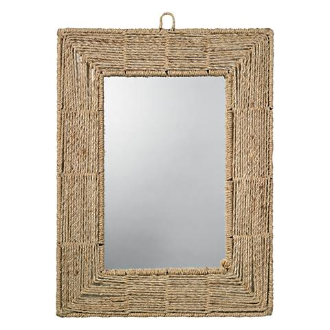 """Jamie Young Rectangle Rope 33"""" High Wall Mirror"""