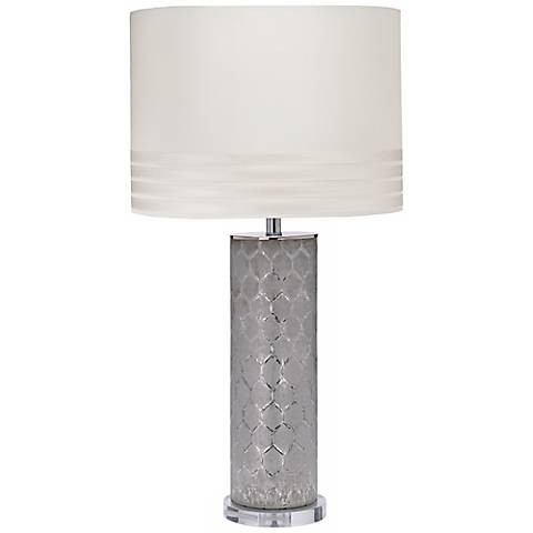 Jamie Young Tall Lattice Glass Table Lamp