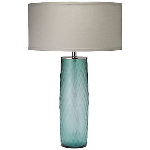 Jamie Young Cloud Sky Blue Glass Table Lamp