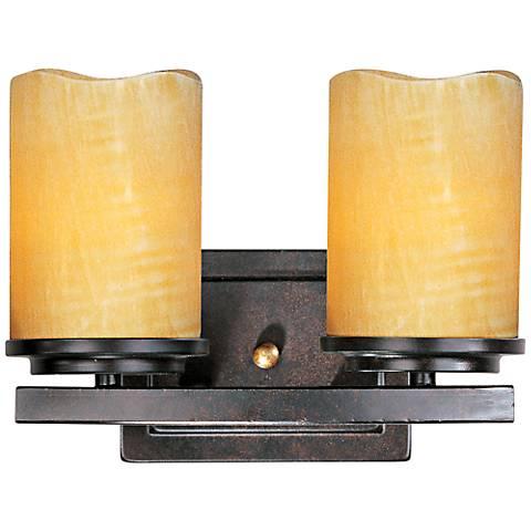 """Maxim Luminous 11"""" Wide Rustic Ebony Bath Light"""