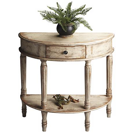 Chateau Gray Demilune Wood Console Table