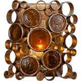 "Varaluz Fascination 8""H Kolorado Bottle Glass Bath Light"