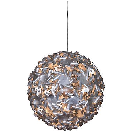 "Varaluz Pinwheel 28"" Wide Aluminum Pendant Light"