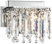 "Possini Euro Design Hanging Crystal 7 3/4"" Wide Bath Light"