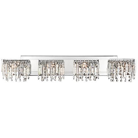 "Possini Euro Design Hanging Crystal 33 3/4"" Wide Bath Light"