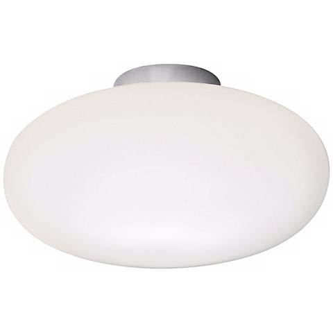 "Holtkoetter Satin Nickel 7 1/2"" Wide Flush Ceiling Light"