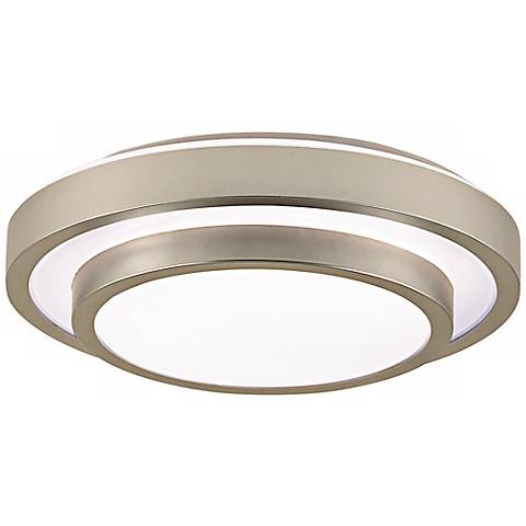 "Noire Collection 13 1/2"" Wide Silver Ceiling Light"